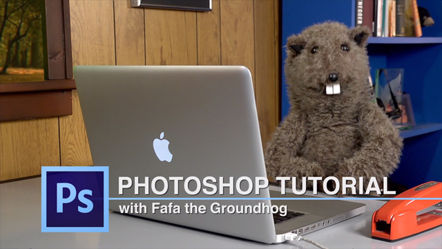 Fafa the Groundhog Puppet Gives a Tutorial on Photoshop