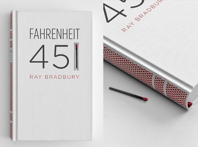 Types Of Book Cover Paper ~ Fahrenheit book cover with a match and striking paper