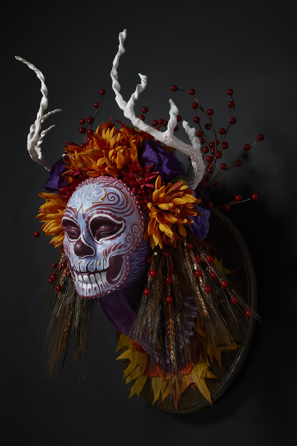 Muertitas four seasons masks by Krisztianna