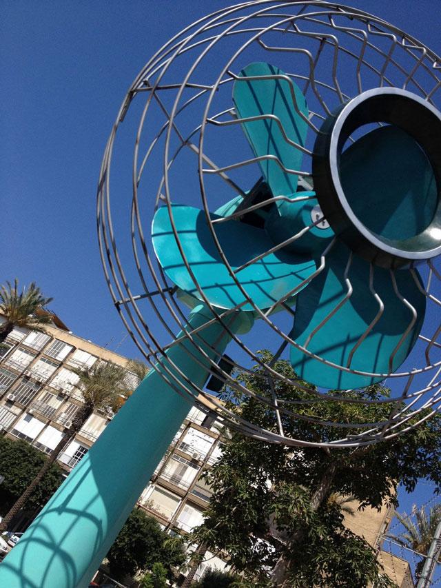 Ventilator giant fan sculpture by Tal Tenne Czaczkes
