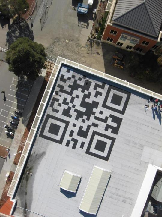 Giant QR Code on New Facebook HQ
