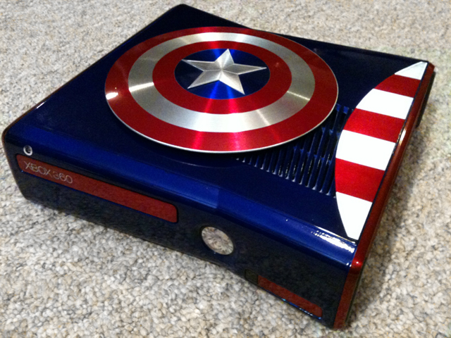 Avengers Captain America Modded Xbox Slim by Avengers Captain America Modded Xbox Slim by Zachariah Cruse
