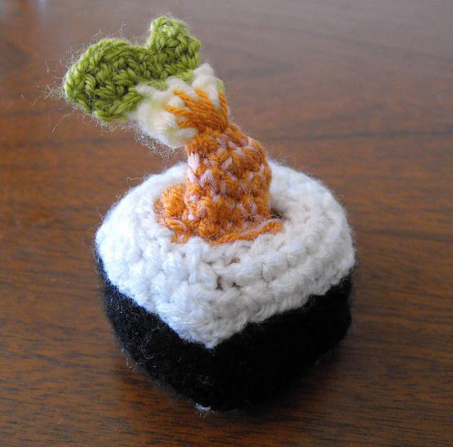 Sushi Crochet Pattern - Amigurumi Food - Ami Amour | 631x640
