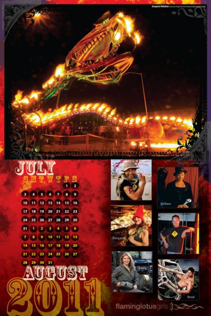 The Flaming Lotus Girls 2001 Calendar