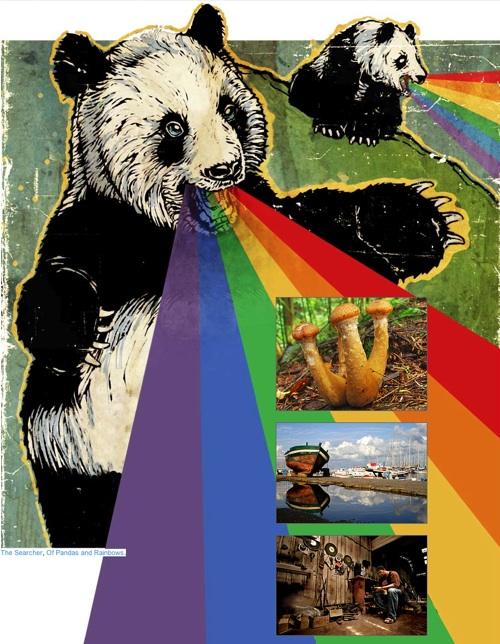 Flickr Panda Rainbow Vomit