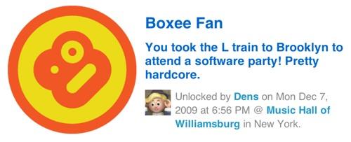 Foursquare Boxee