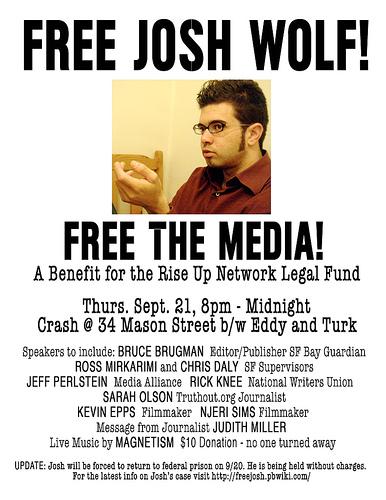 Free Josh Wolf Benefit