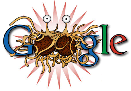 Flying Spaghetti Monster Google Logo