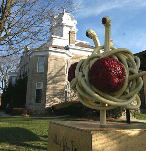 Flying Spaghetti Monster Statue