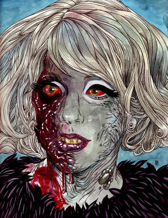 Lady Gaga Zombie by Rob Sacchetto