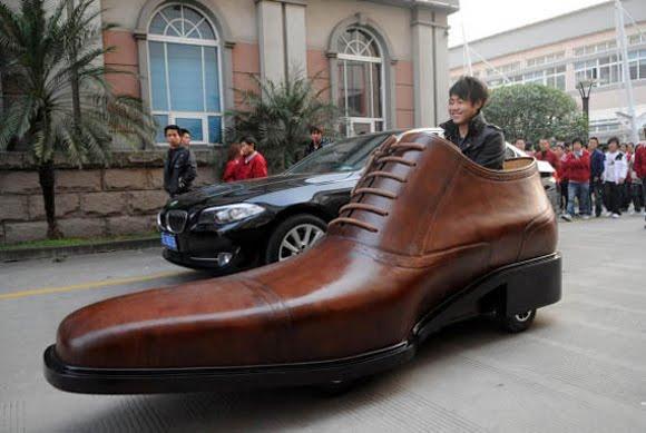 Giant Shoe Car