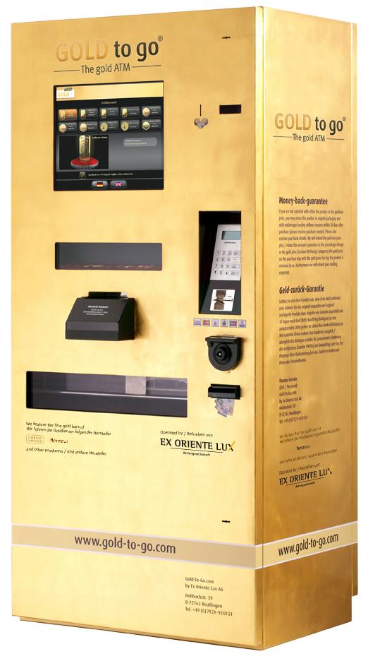 gold to go a vending machine that distributes gold. Black Bedroom Furniture Sets. Home Design Ideas