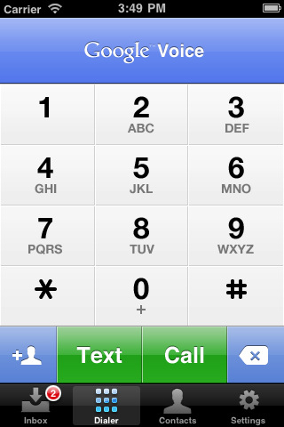 Google Voice For iPhone