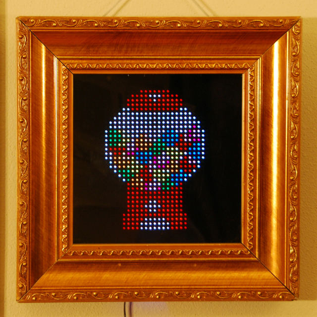PIXEL, An Interactive LED Based Picture Frame For Displaying Pixel Art