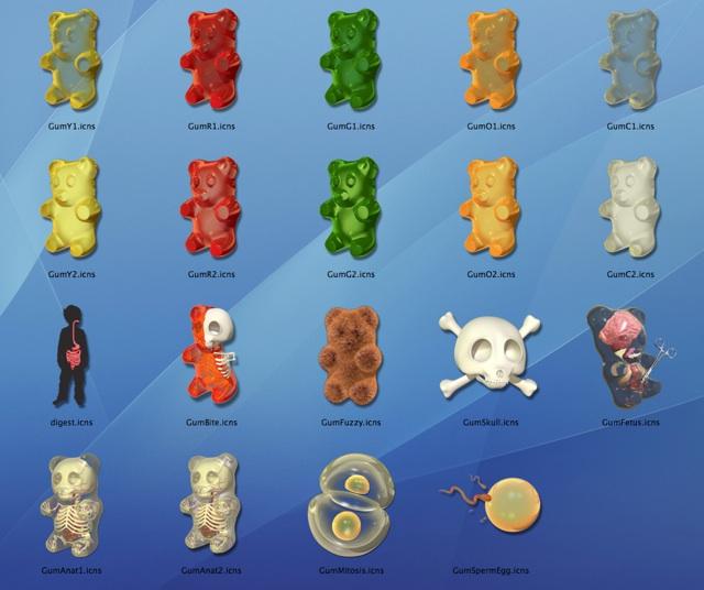 Gummi Bear Anatomy Mac Osx Icons