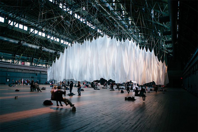 The Event Of A Thread Stunning Interactive Installation