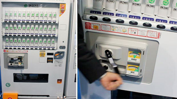 Hand-crank vending machine