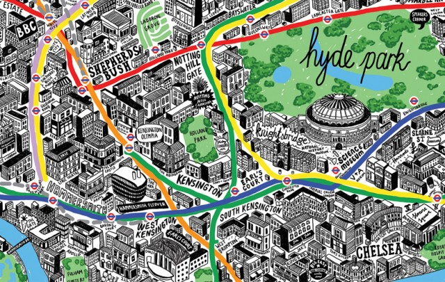 Incredibly Detailed Hand Drawn Map of London – Map of London Landmarks