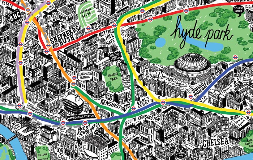 Incredibly Detailed Hand Drawn Map of London