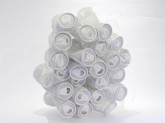 Paper soda cans by Yoshio Hasegawa