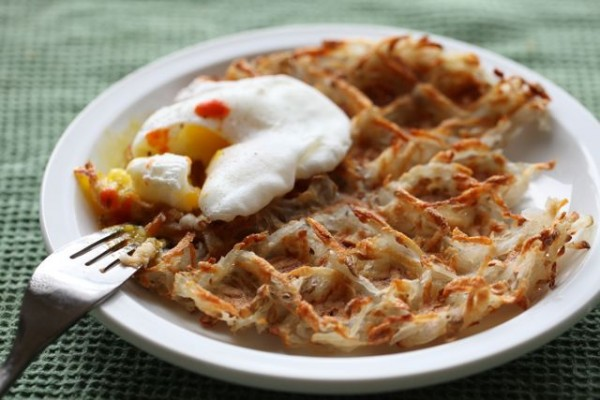 Waffles with egg
