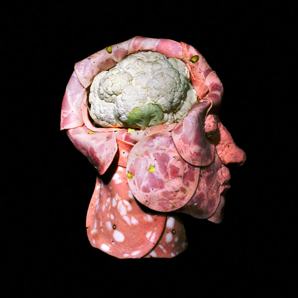 Anatomical food sculptures by Dimitri Tsykalov