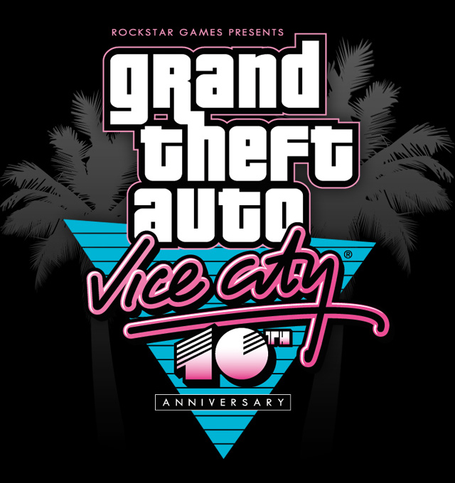 Image result for gta vc 10th anniversary logo