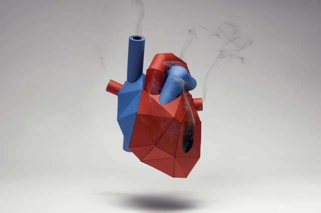 Human Heart Cut Out Paper