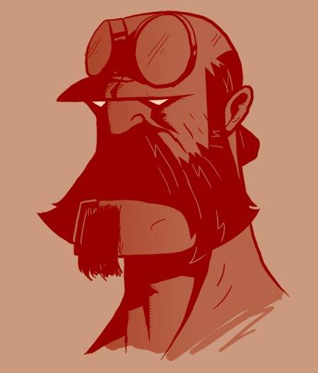 Bearded Hellboy