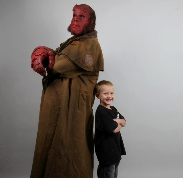Make-A-Wish Brings Six-Year-Old Zachary Face To Face With Hellboy