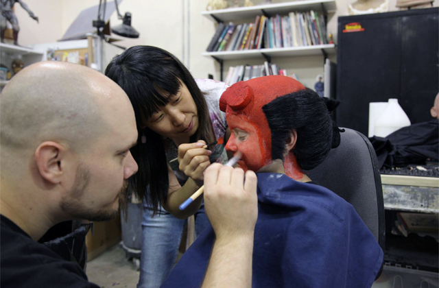 Make a Wish day with Hellboy and Zachary