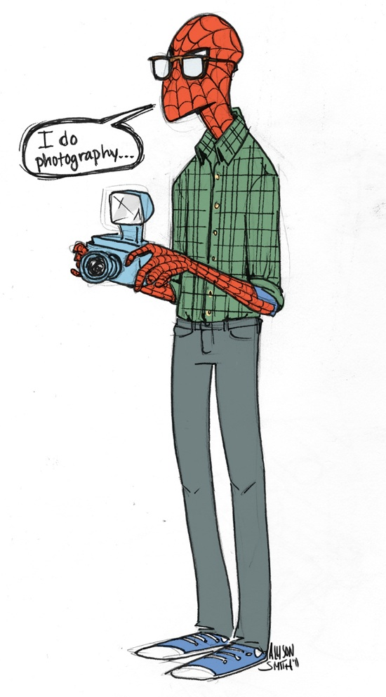 hipster-spider-man