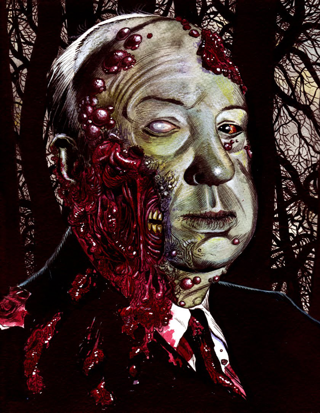 Hitchcock Zombie by Rob Sacchetto