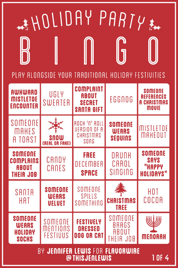 Holiday Party Bingo Cards to Play With Your Dysfunctional Family