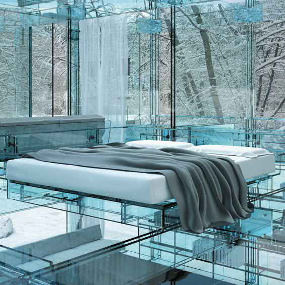 Glass house concept by Santambrogiomilano