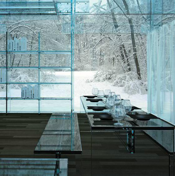 Glass house concept by Santambrogiomilano