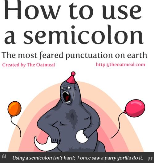 To Use A Semicolon