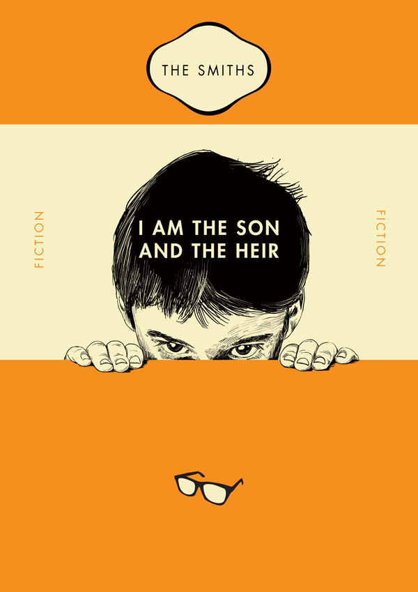 Penguin Book Covers Poster ~ The smiths song lyrics as classic penguin paperback book