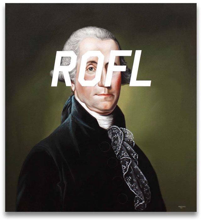 18th Century Internet Slang Portraits by Shawn Huckins