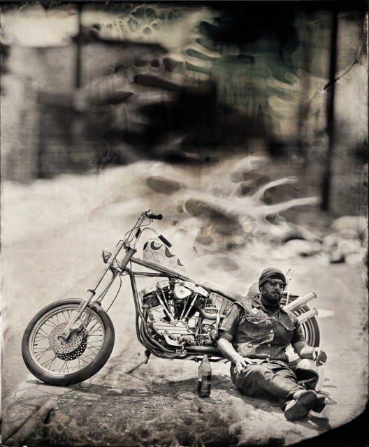 "Ian Ruhter/ Wet Plate Collodion 27""x36""/Jason Wilson / Los Angeles CA 6.3.2012"