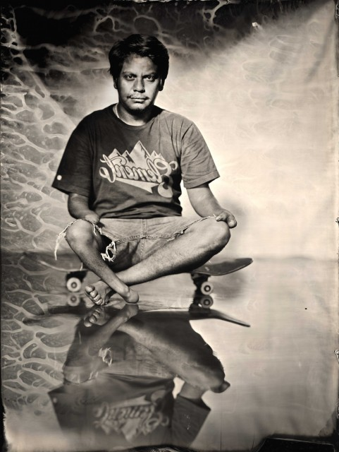 "Ian Ruhter/ Wet Plate Collodion 27""x36""/Oscar Loreto jr/ Los Angeles CA 6.4.2012"