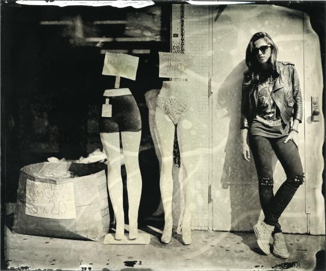 Ian Ruhter/Wet Plate Collodion/ Lauren Graham /Down Town Los Angeles, CA/ 7.1.10