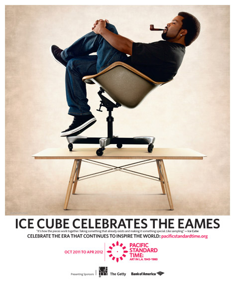 rapper ice cube celebrates the eames at pacific standard time