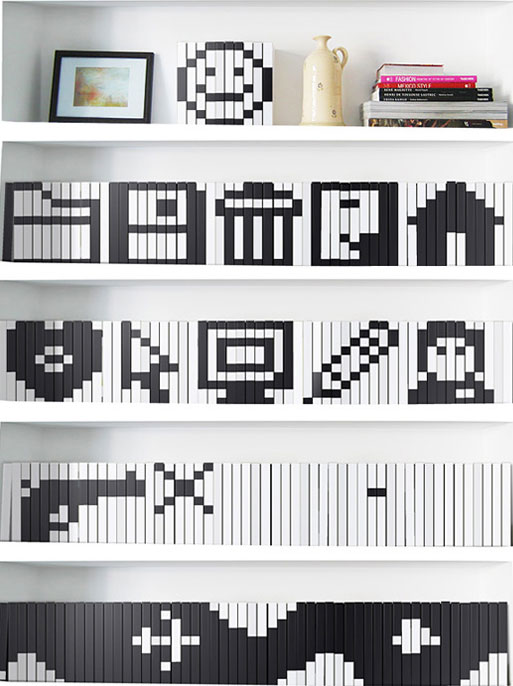 Bookshelf Pixel Art by Igor Udushlivy