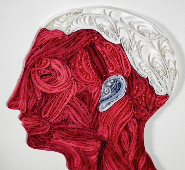 Quilled Anatomy Art by Sarah Yakawonis