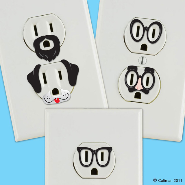 creative outlet stickers give electric wall outlets prank wall outlet decal rectangular sticker zazzle