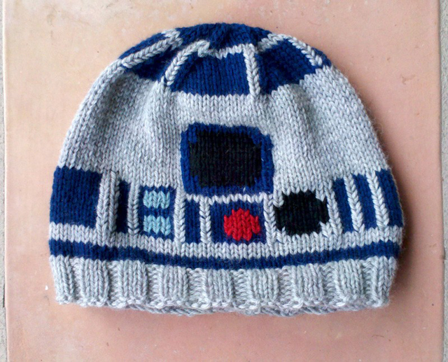 Custom Made Knitted R2 D2 Sweater Hat