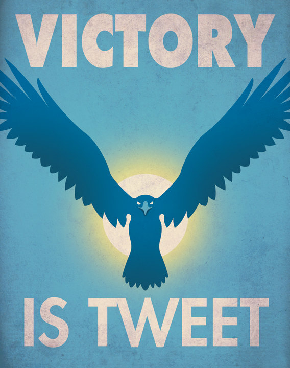 Tech company war propaganda posters by Aaron Wood