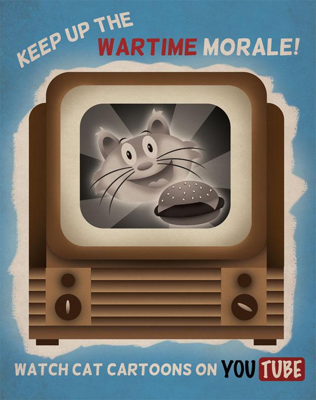 Tech company war propaganda posters by Aaron Wood