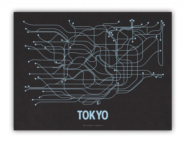 Minimalist City Transit Map Posters